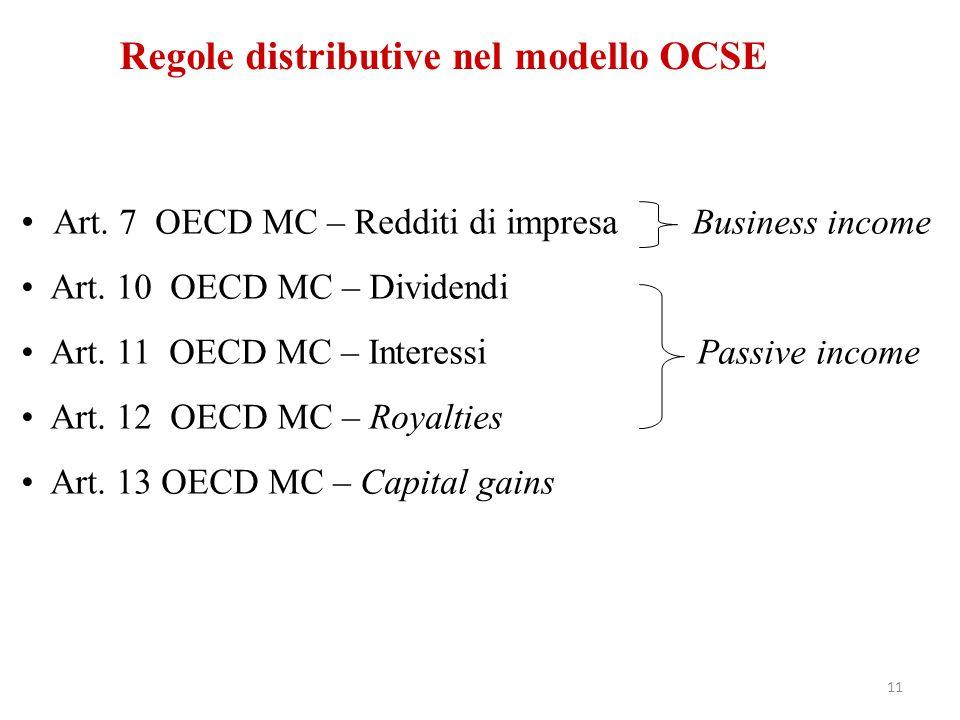 Regole distributive nel modello OCSE