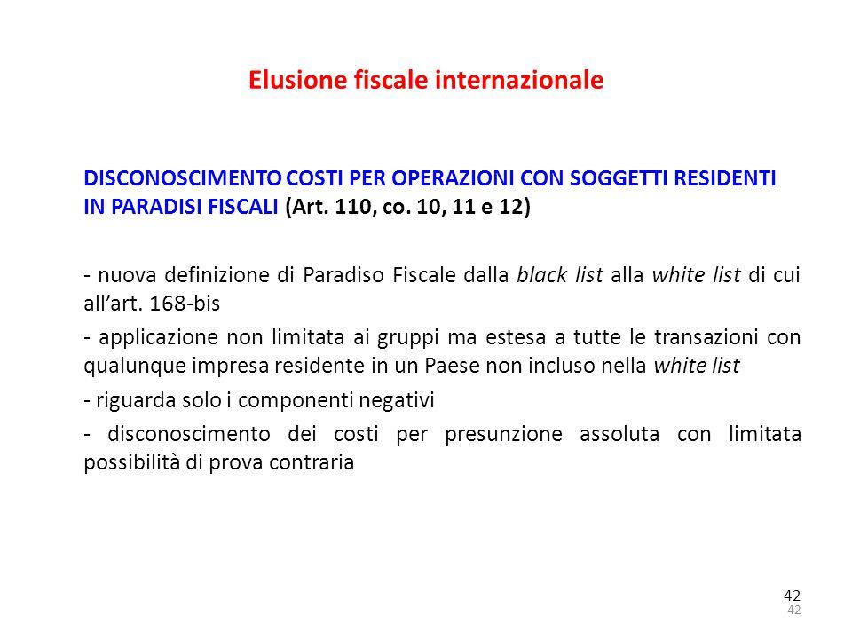 Elusione fiscale internazionale
