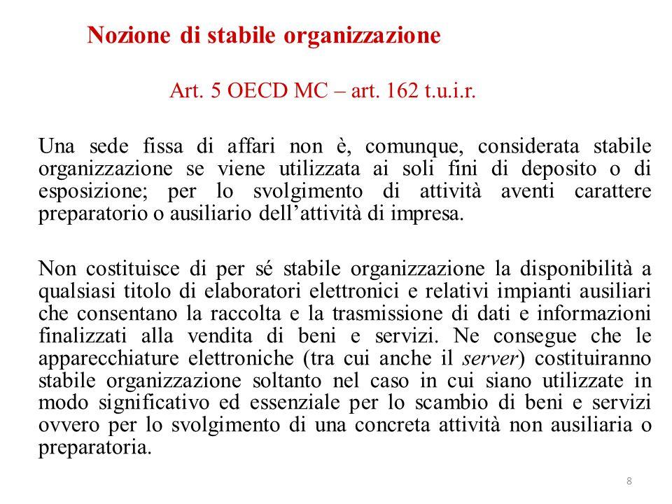 Nozione di stabile organizzazione