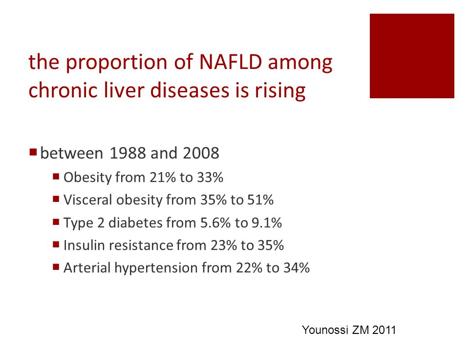 the proportion of NAFLD among chronic liver diseases is rising