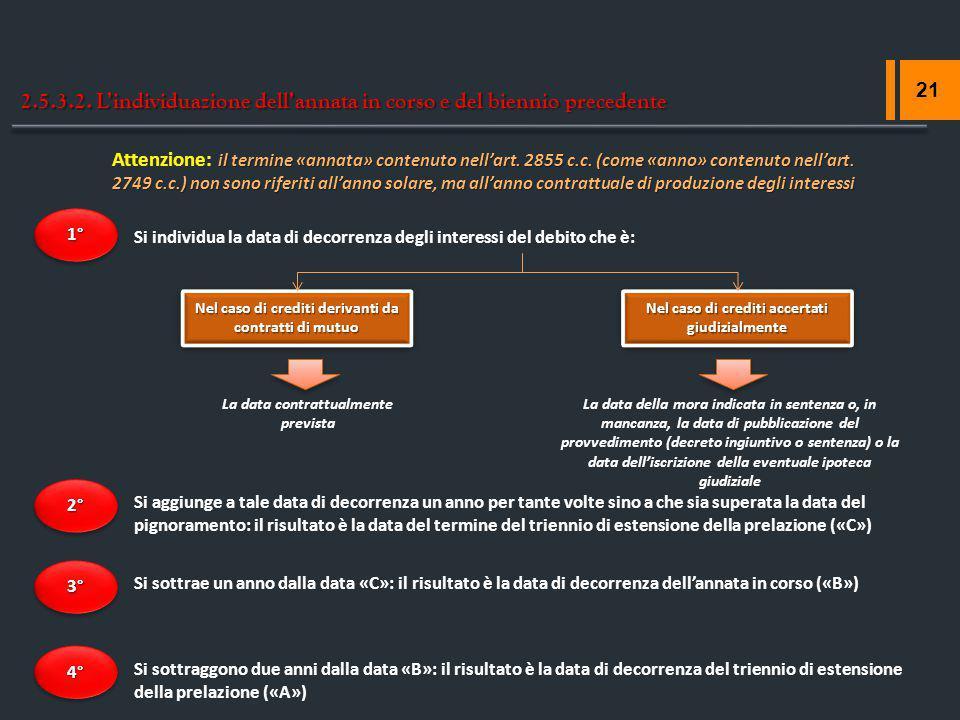 2.5.3.2. L'individuazione dell'annata in corso e del biennio precedente