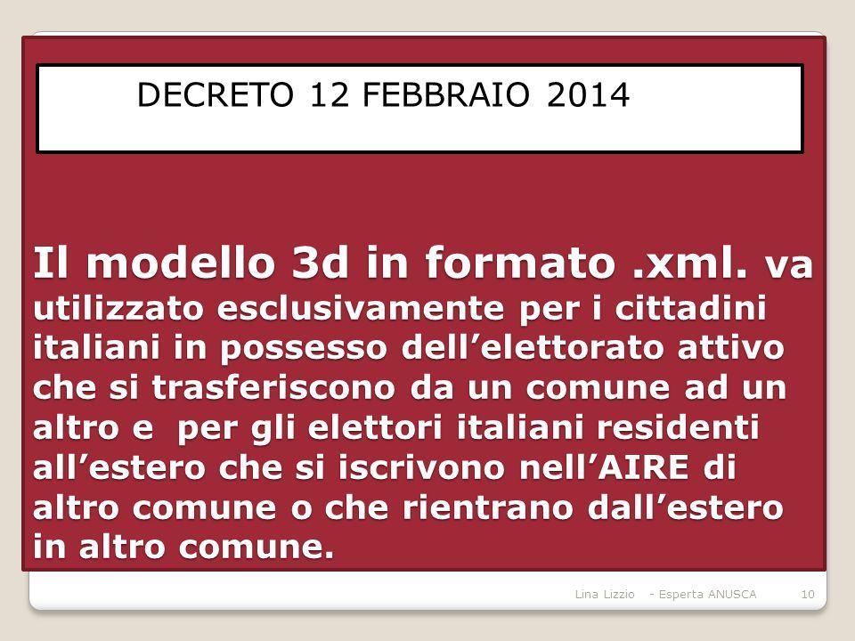 Il modello 3d in formato. xml