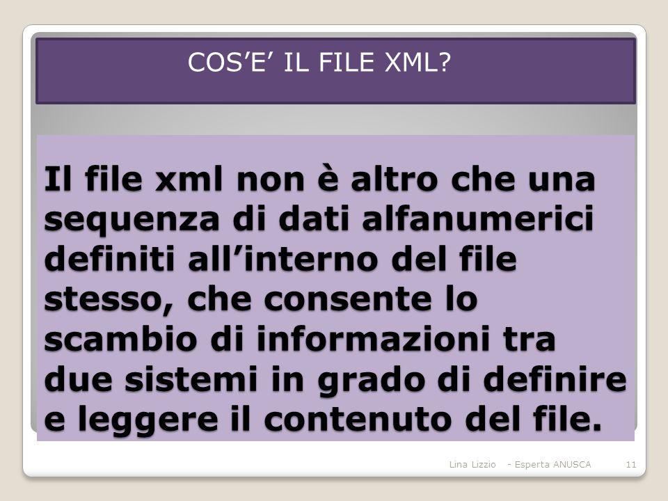 COS'E' IL FILE XML