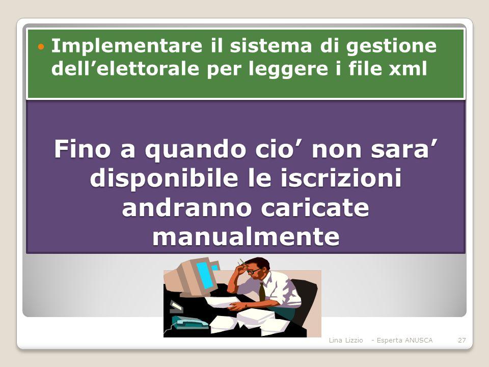 Implementare il sistema di gestione dell'elettorale per leggere i file xml