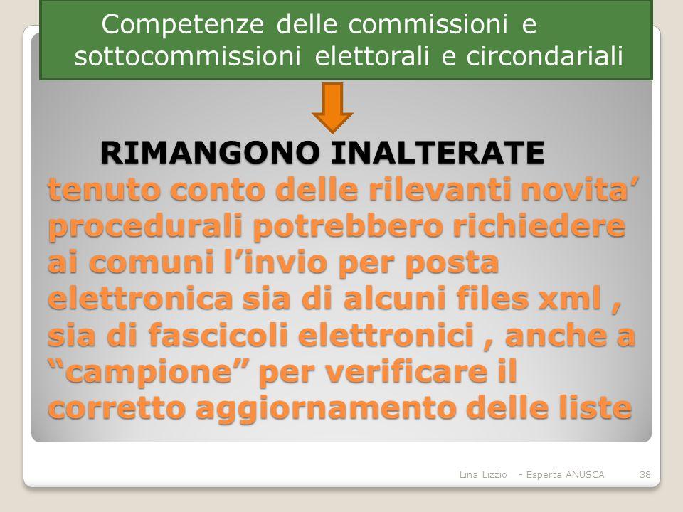 Competenze delle commissioni e sottocommissioni elettorali e circondariali