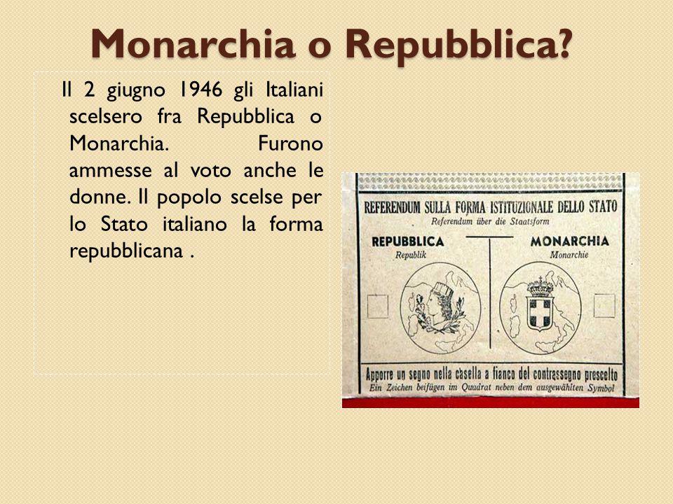 Monarchia o Repubblica