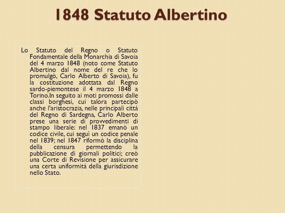 1848 Statuto Albertino