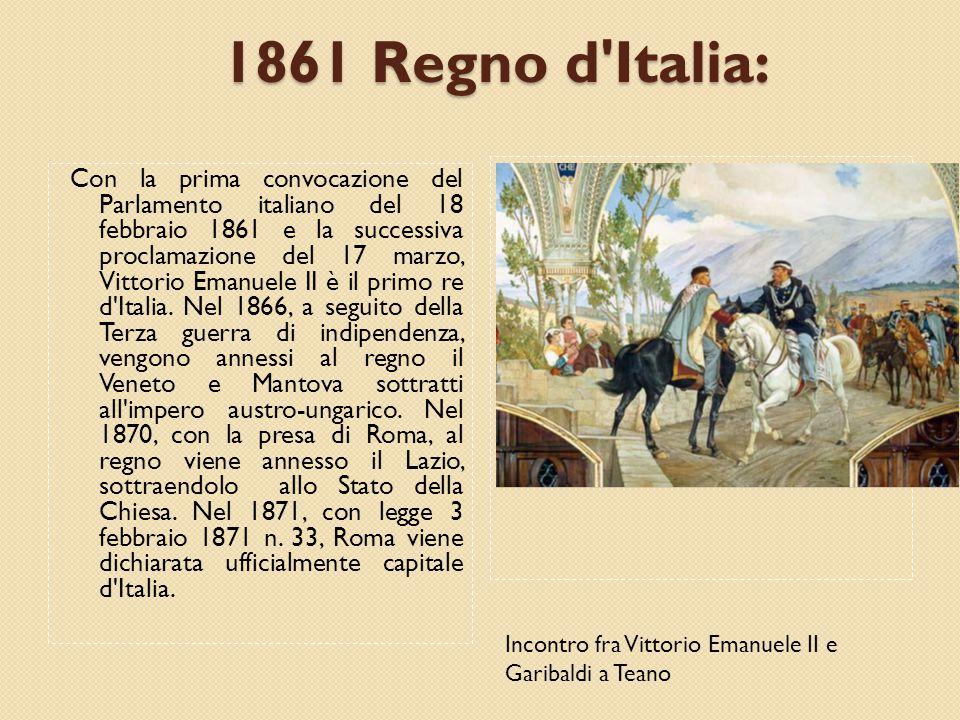 1861 Regno d Italia: