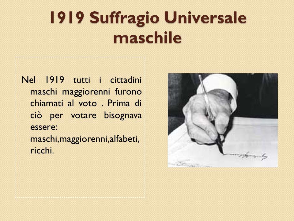 1919 Suffragio Universale maschile