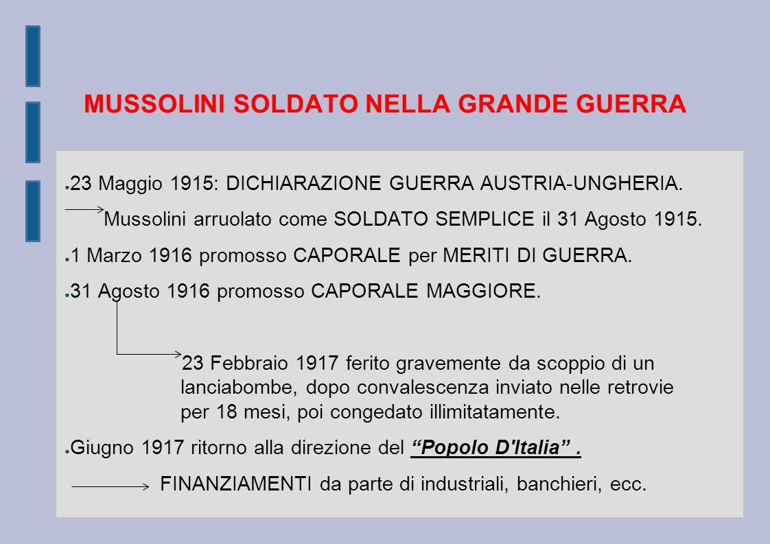 MUSSOLINI SOLDATO NELLA GRANDE GUERRA