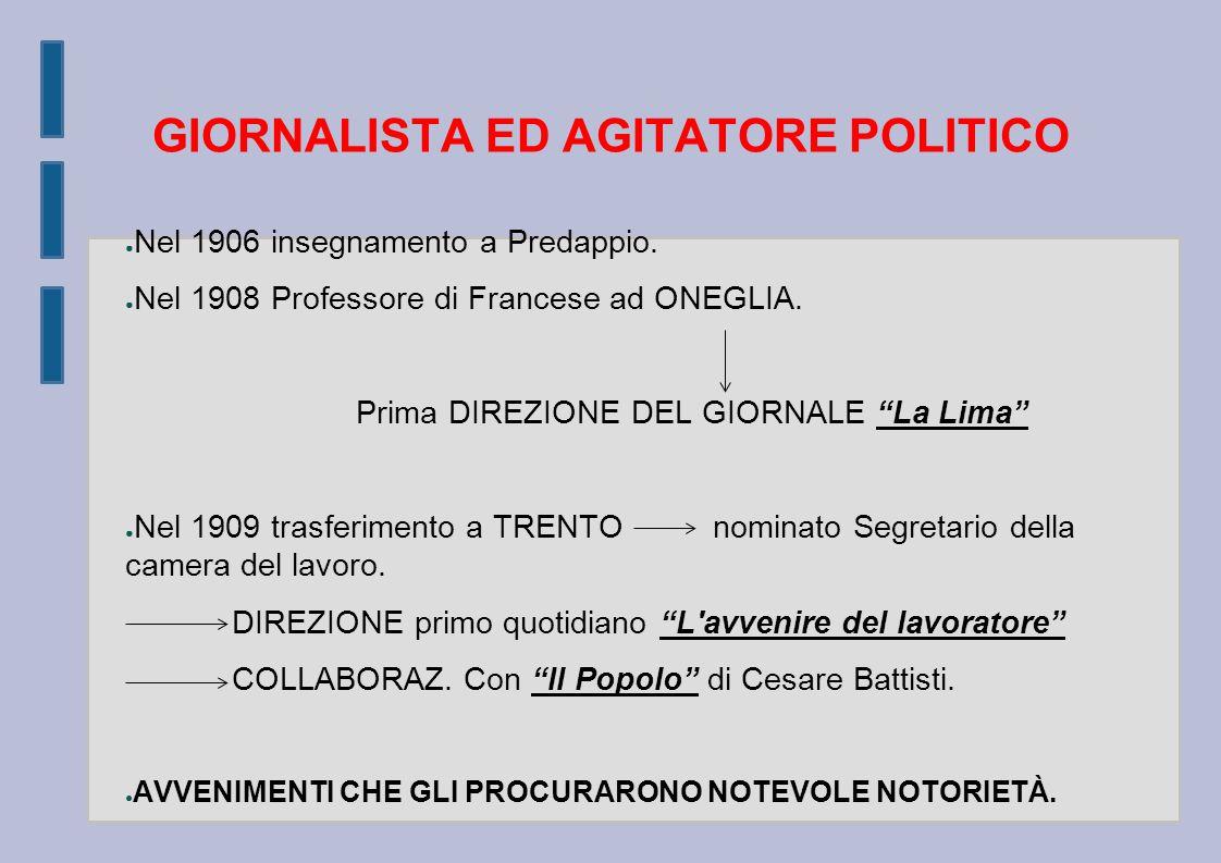 GIORNALISTA ED AGITATORE POLITICO
