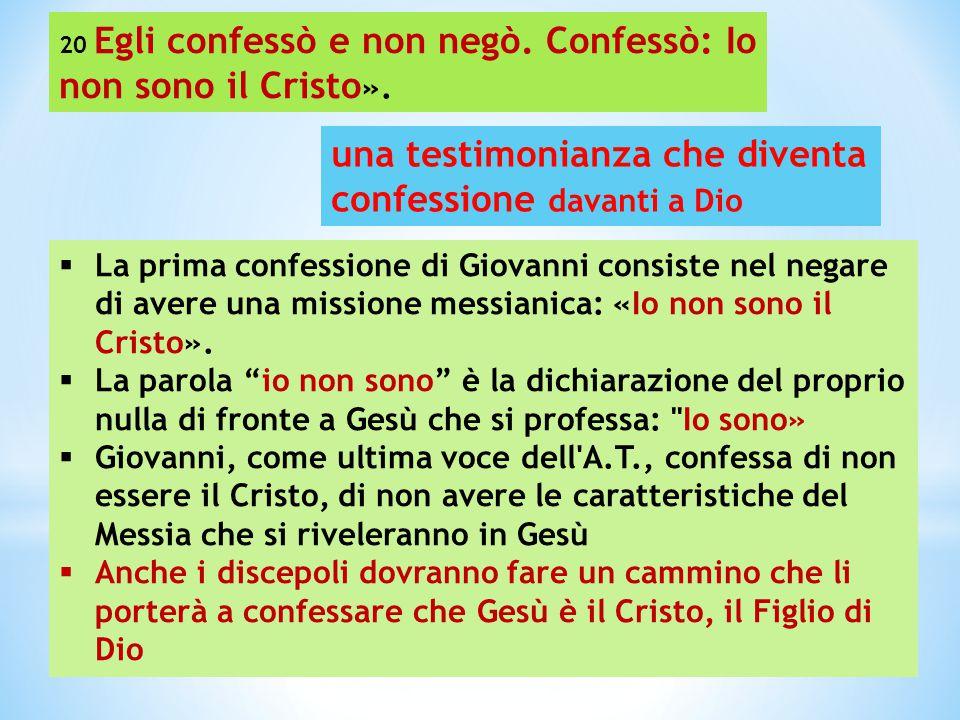 una testimonianza che diventa confessione davanti a Dio