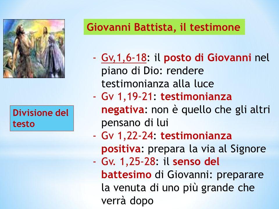 Giovanni Battista, il testimone