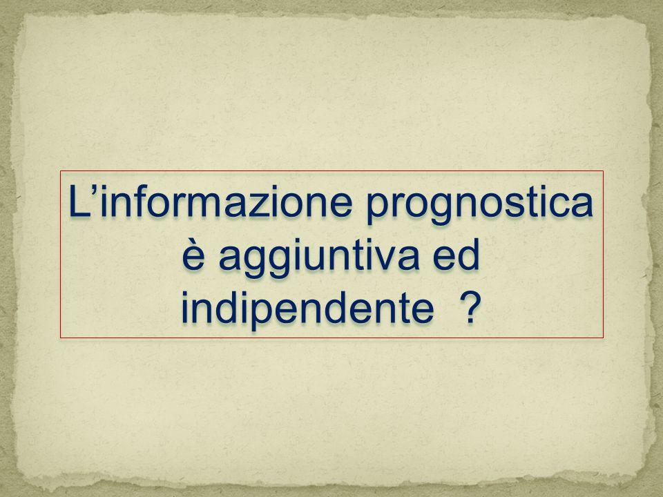L'informazione prognostica è aggiuntiva ed indipendente