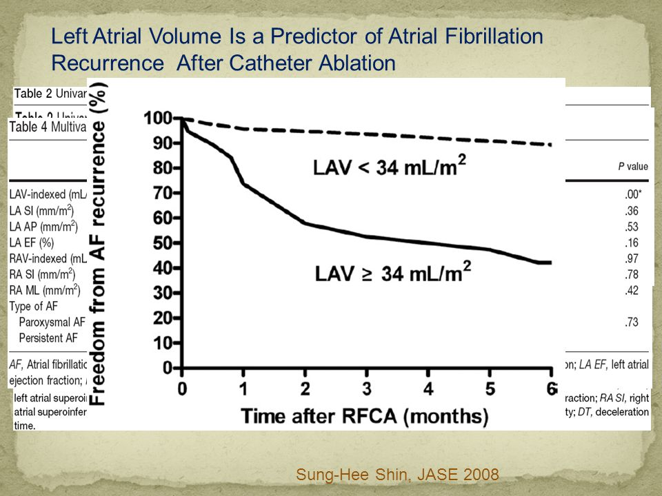Left Atrial Volume Is a Predictor of Atrial Fibrillation Recurrence After Catheter Ablation