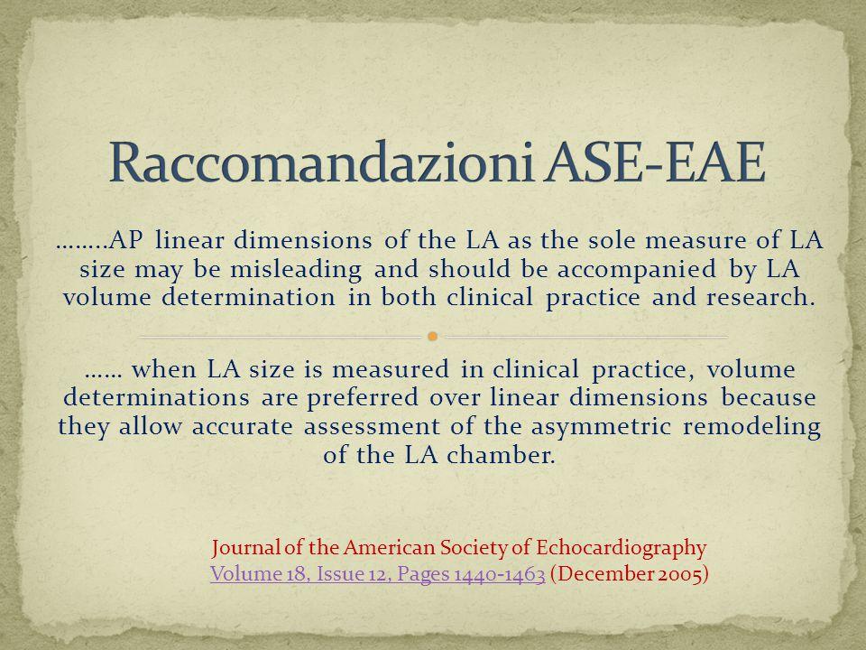 Raccomandazioni ASE-EAE