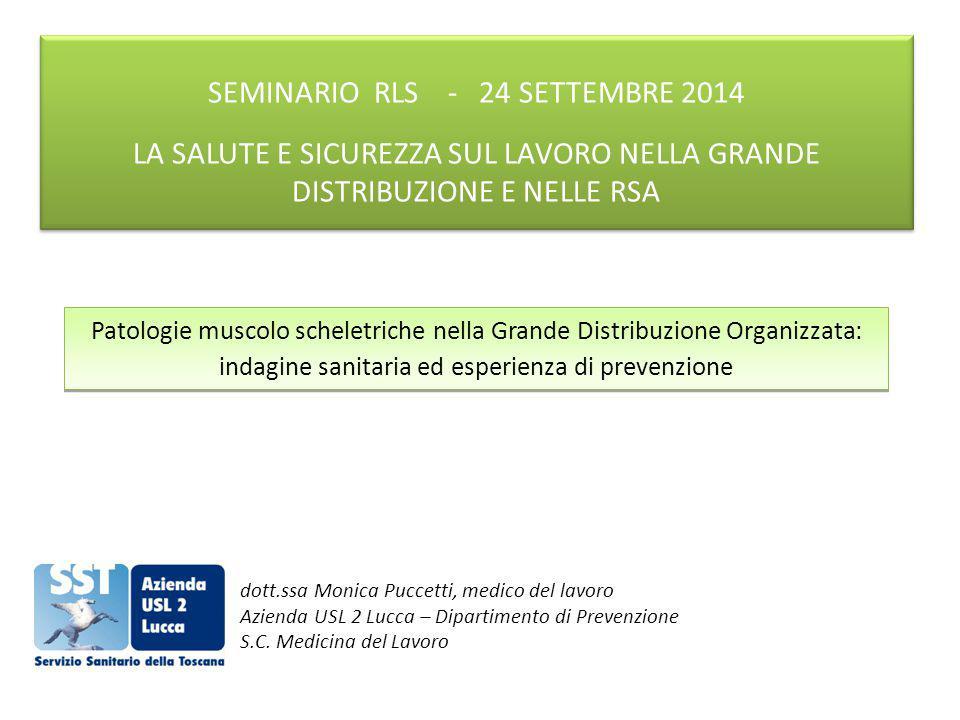 SEMINARIO RLS - 24 SETTEMBRE 2014