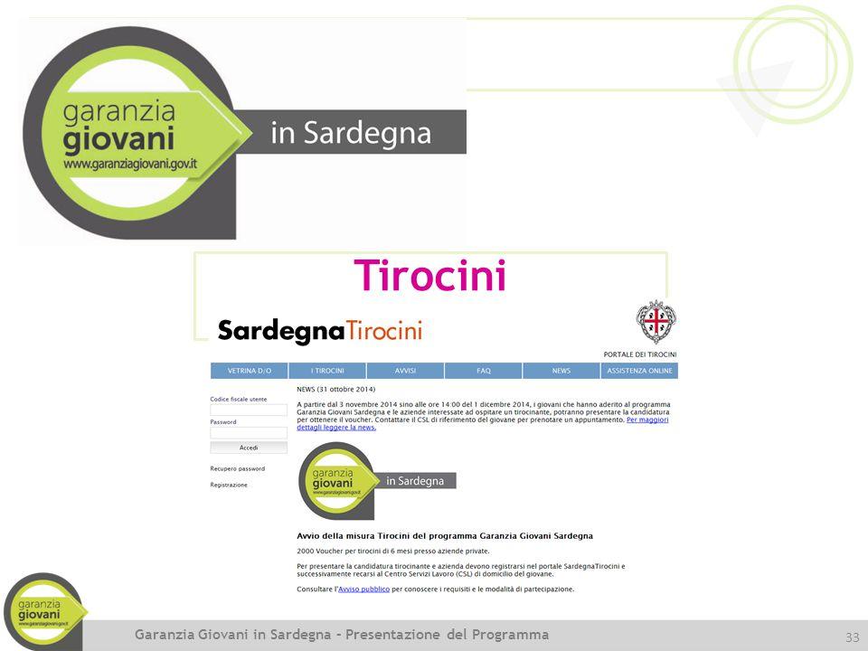 Tirocini Garanzia Giovani in Sardegna – Presentazione del Programma
