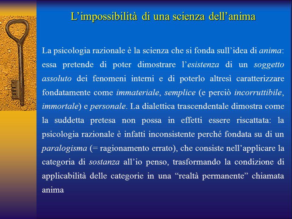 L'impossibilità di una scienza dell'anima