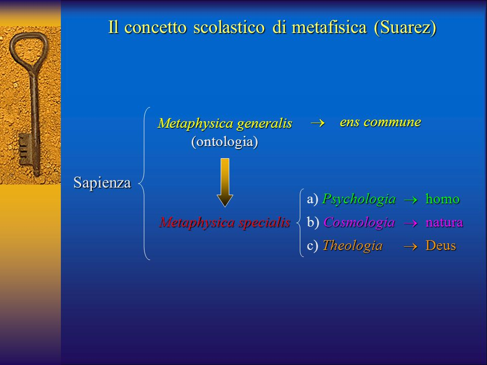 Il concetto scolastico di metafisica (Suarez)
