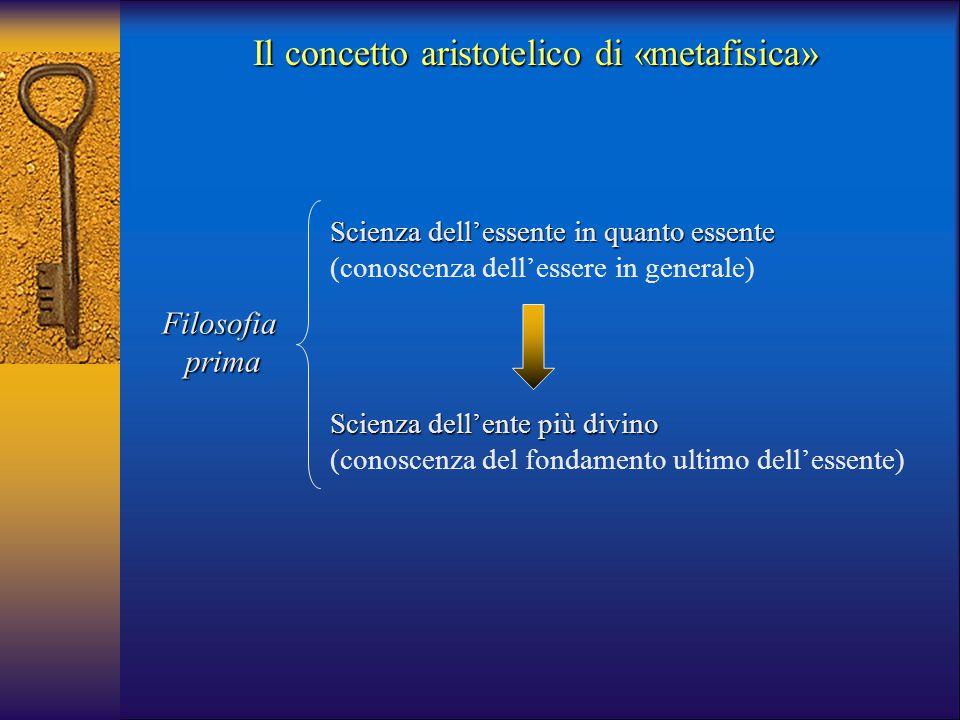 Il concetto aristotelico di «metafisica»