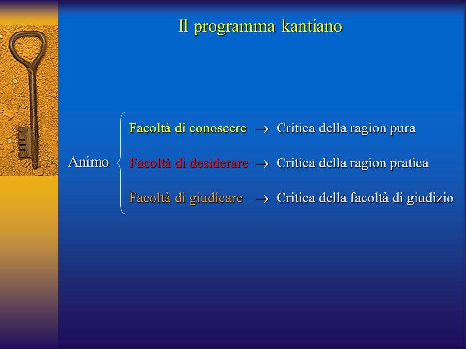 Il programma kantiano Animo