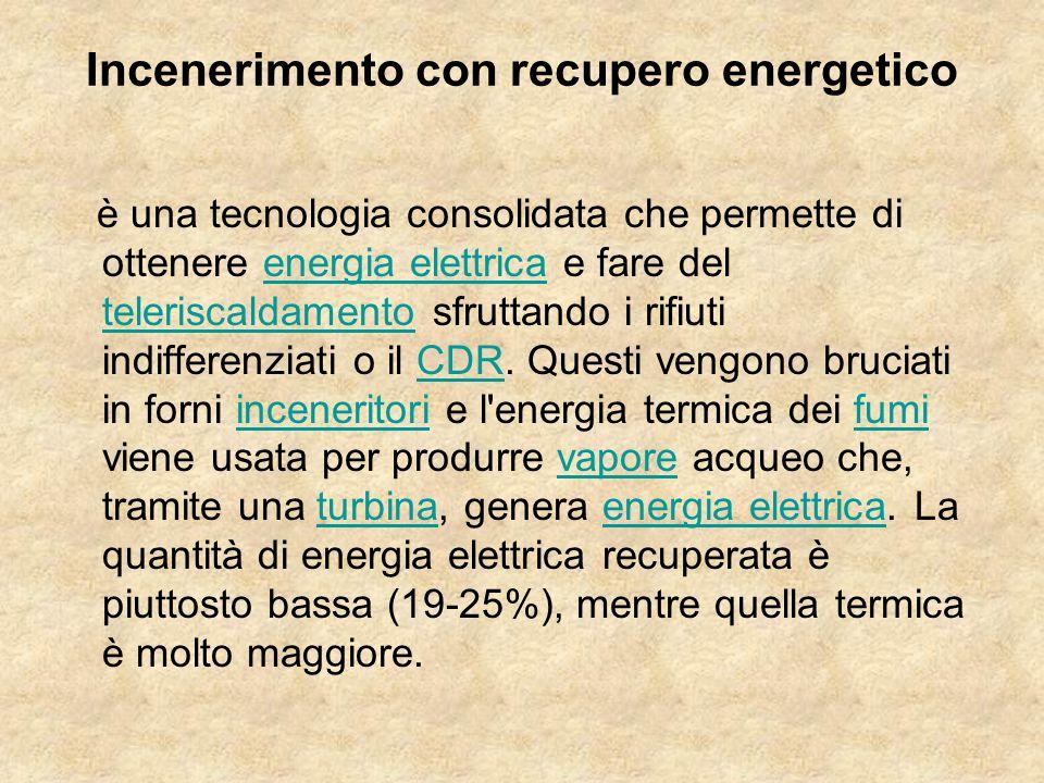 Incenerimento con recupero energetico