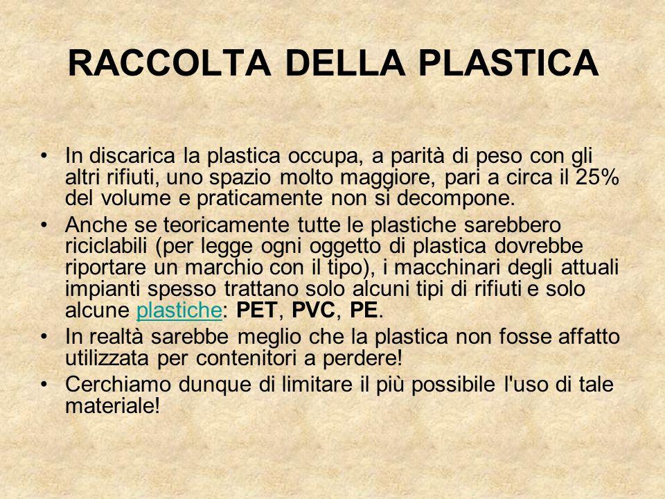 RACCOLTA DELLA PLASTICA