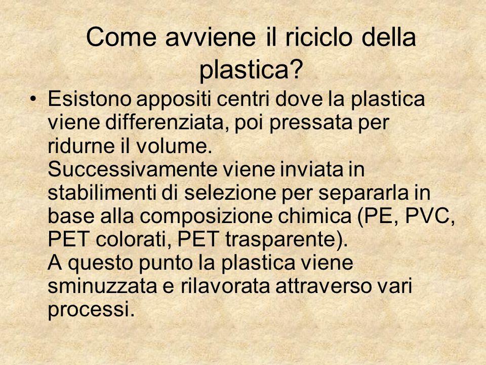 Come avviene il riciclo della plastica
