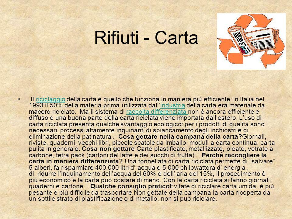 Rifiuti - Carta