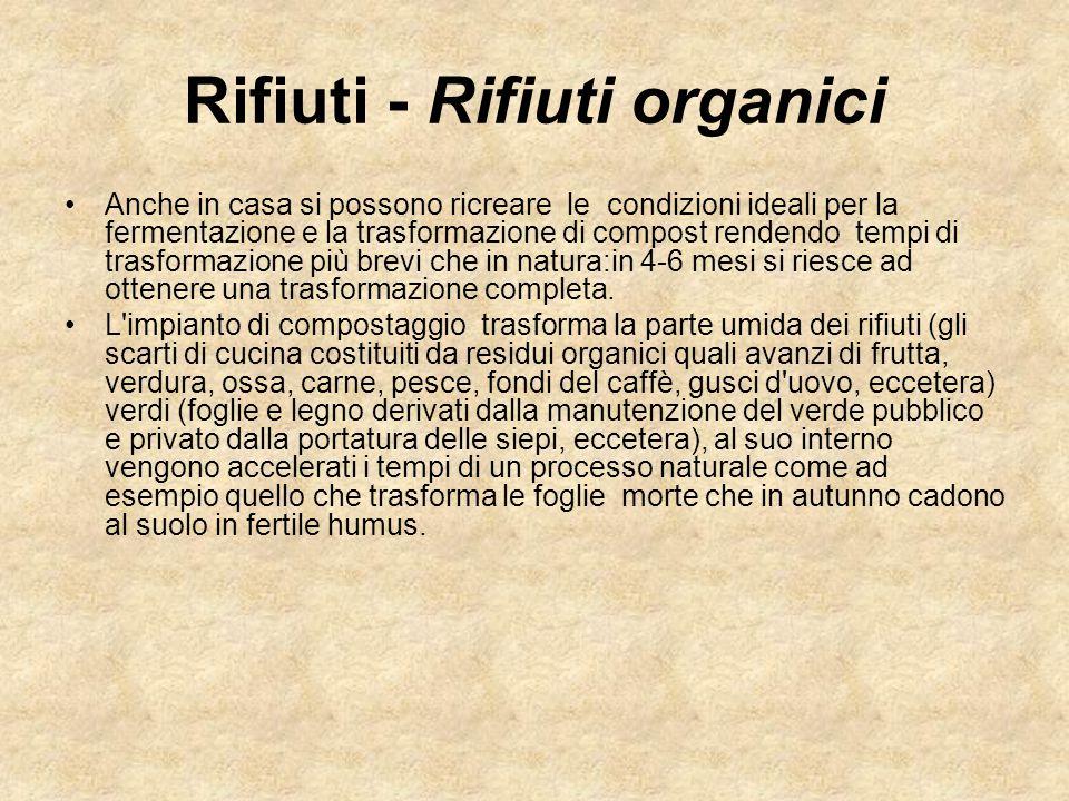 Rifiuti - Rifiuti organici