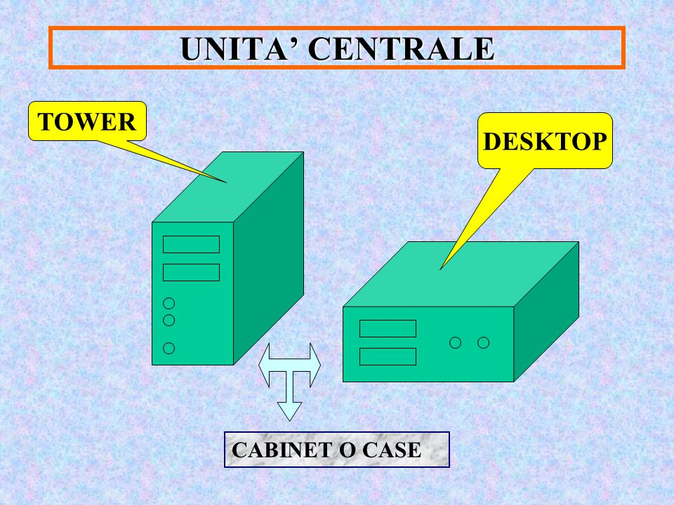 UNITA' CENTRALE TOWER DESKTOP CABINET O CASE
