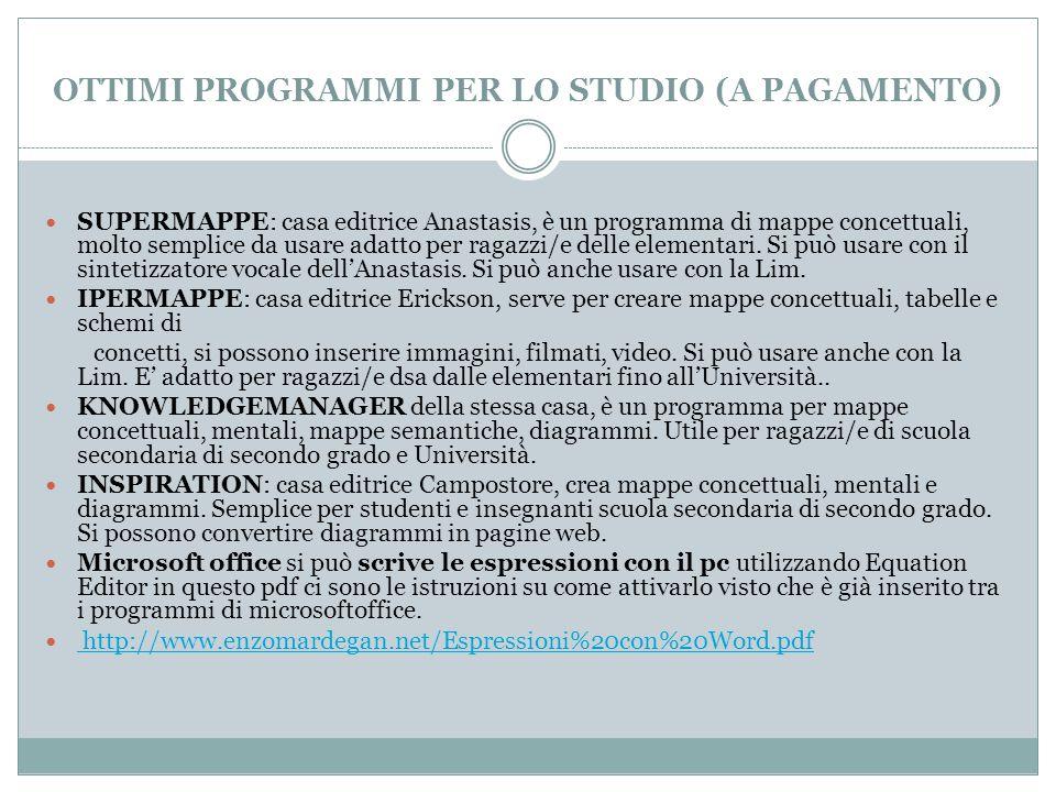 OTTIMI PROGRAMMI PER LO STUDIO (A PAGAMENTO)