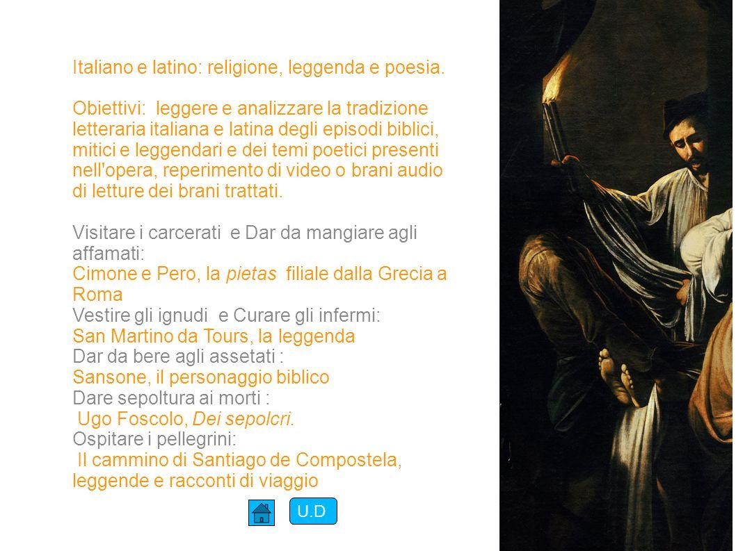 Italiano e latino: religione, leggenda e poesia.