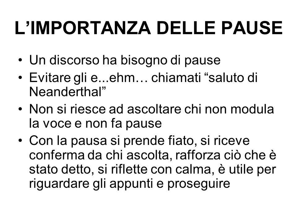 L'IMPORTANZA DELLE PAUSE