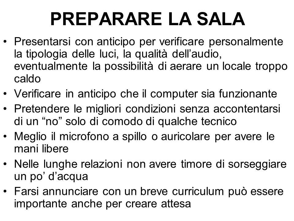 PREPARARE LA SALA