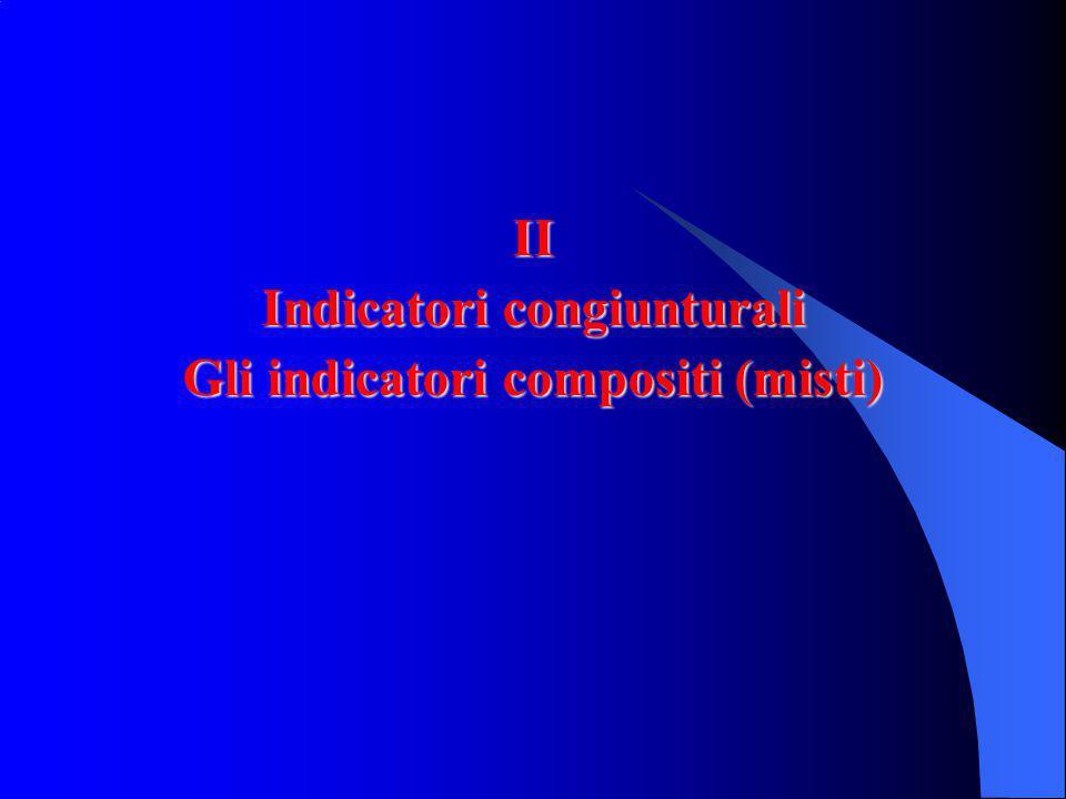 Indicatori congiunturali Gli indicatori compositi (misti)
