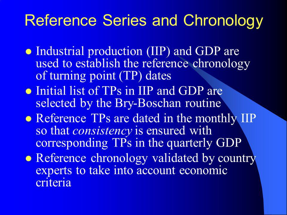 Reference Series and Chronology