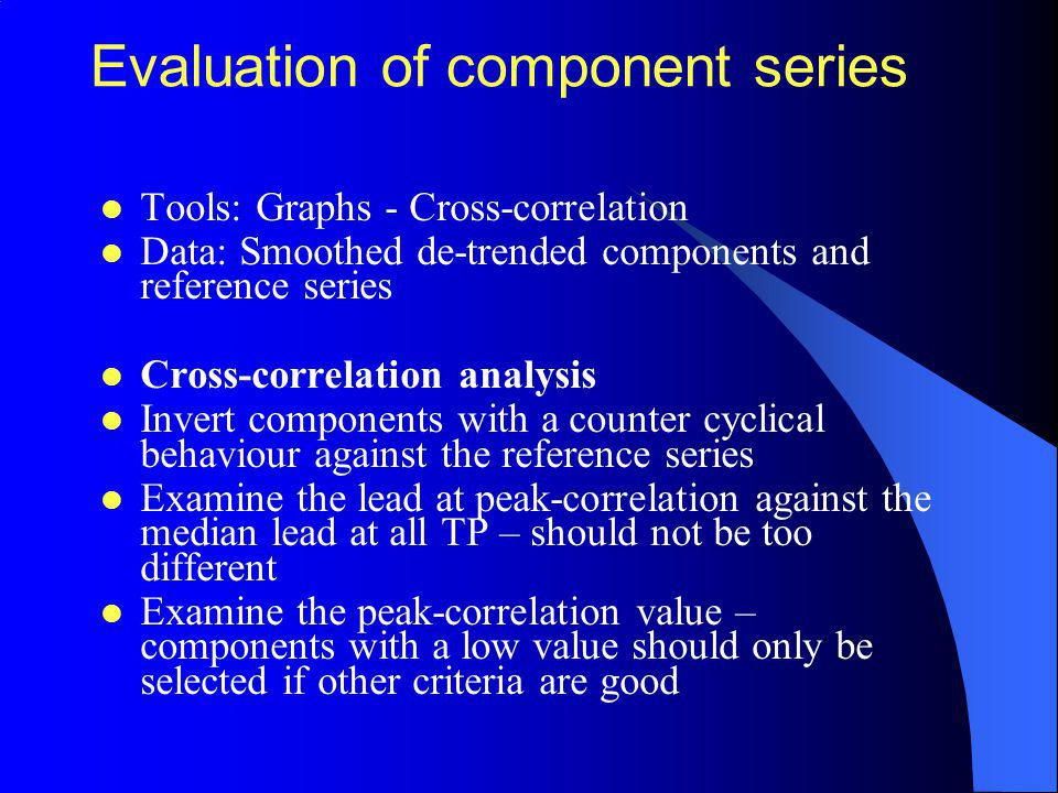 Evaluation of component series