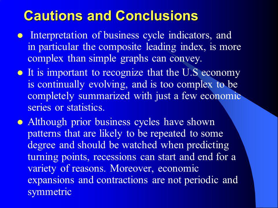 Cautions and Conclusions