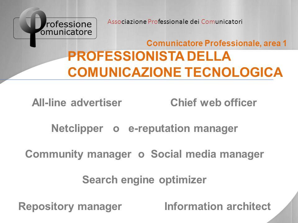 PROFESSIONISTA DELLA COMUNICAZIONE TECNOLOGICA