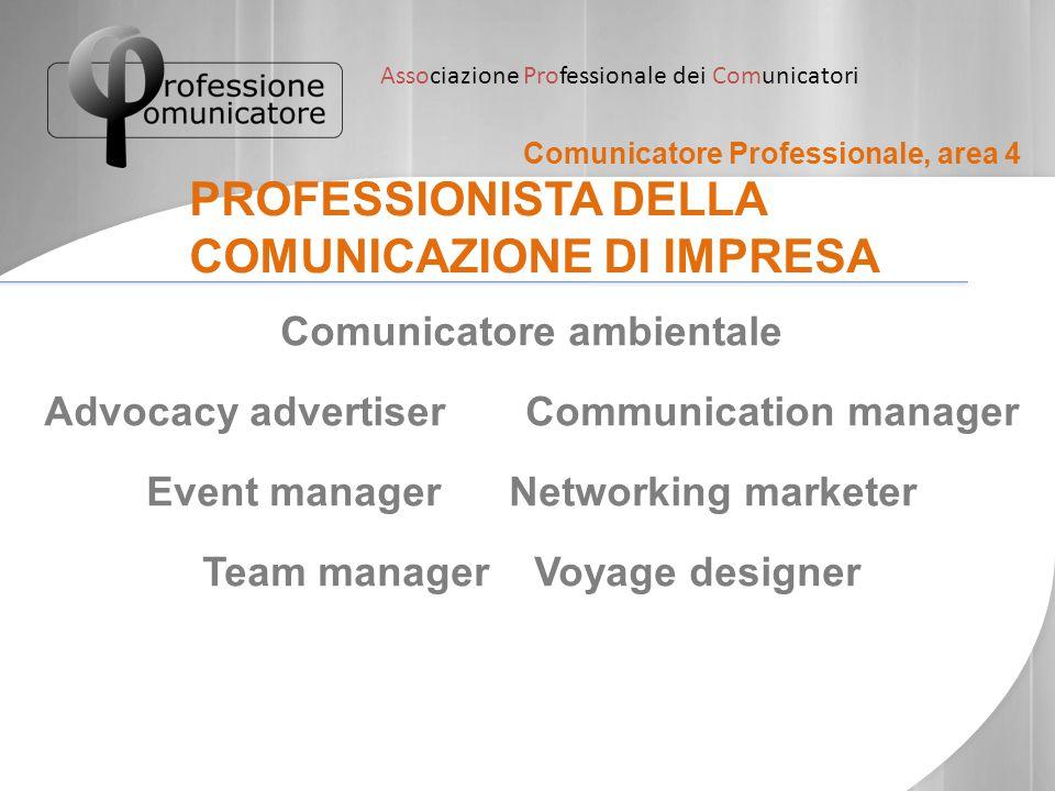 PROFESSIONISTA DELLA COMUNICAZIONE DI IMPRESA