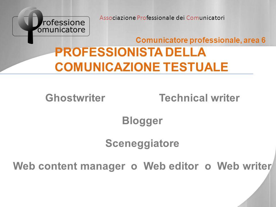 PROFESSIONISTA DELLA COMUNICAZIONE TESTUALE