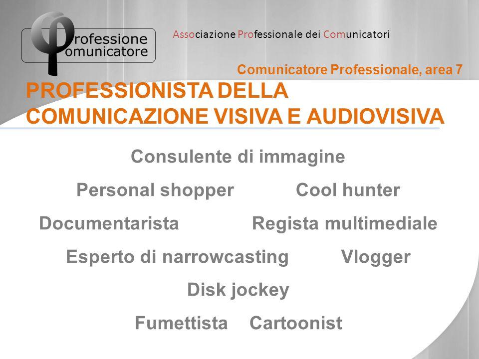 PROFESSIONISTA DELLA COMUNICAZIONE VISIVA E AUDIOVISIVA