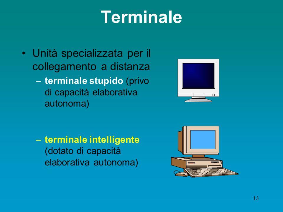 Terminale Unità specializzata per il collegamento a distanza
