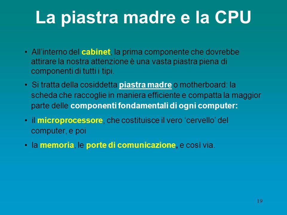 La piastra madre e la CPU