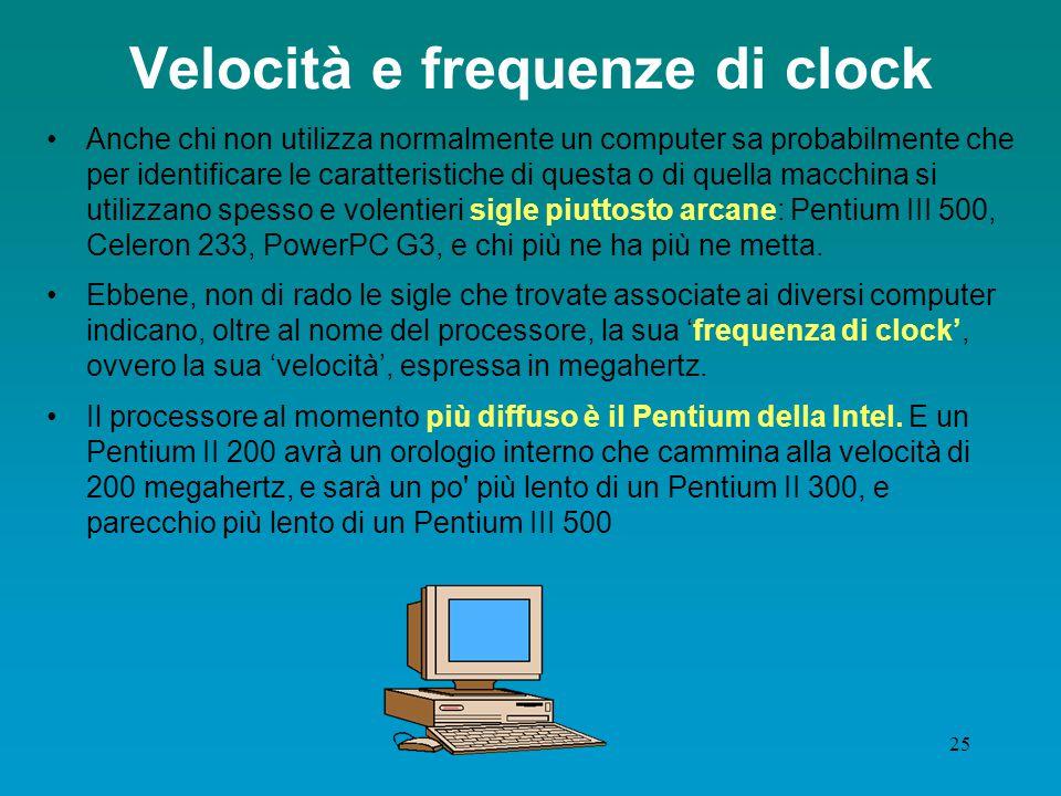 Velocità e frequenze di clock