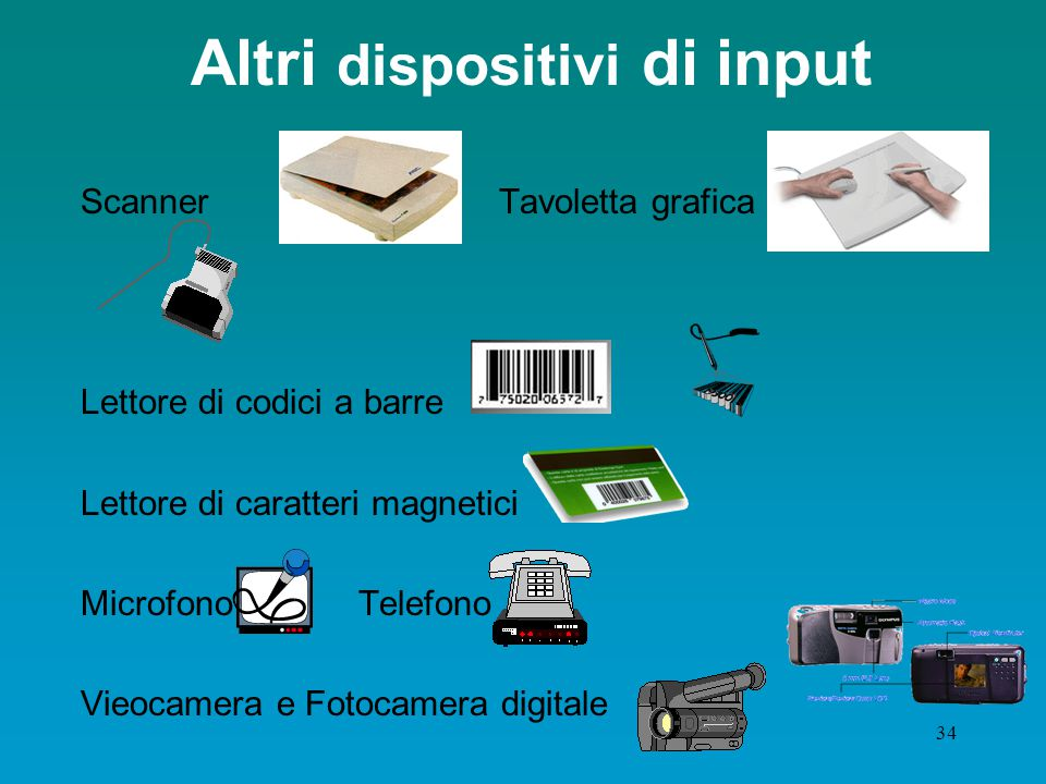 Altri dispositivi di input