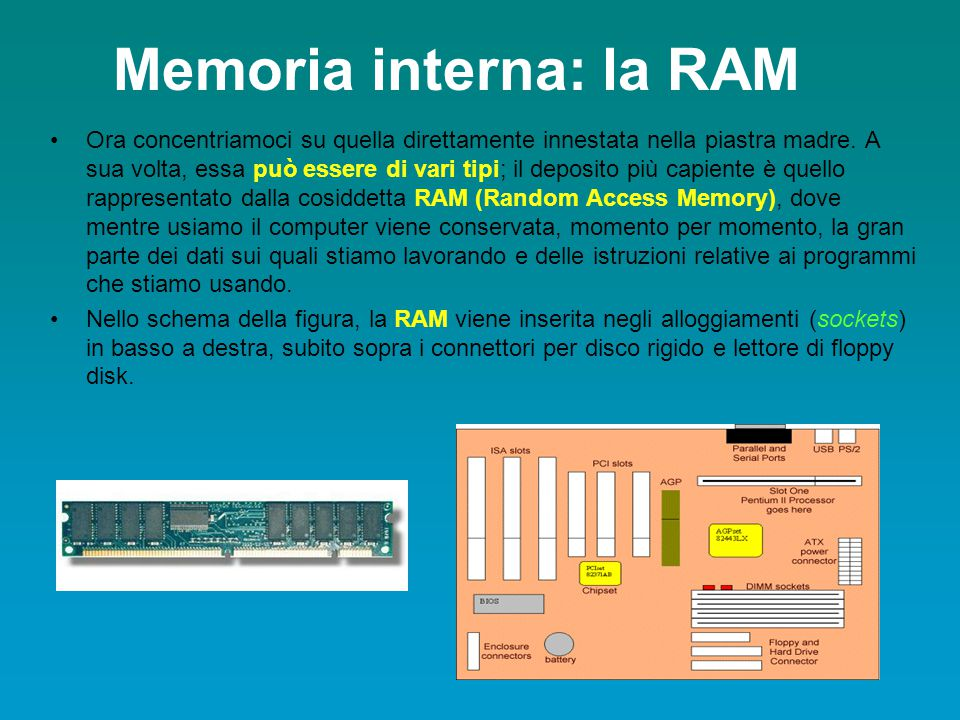 Memoria interna: la RAM