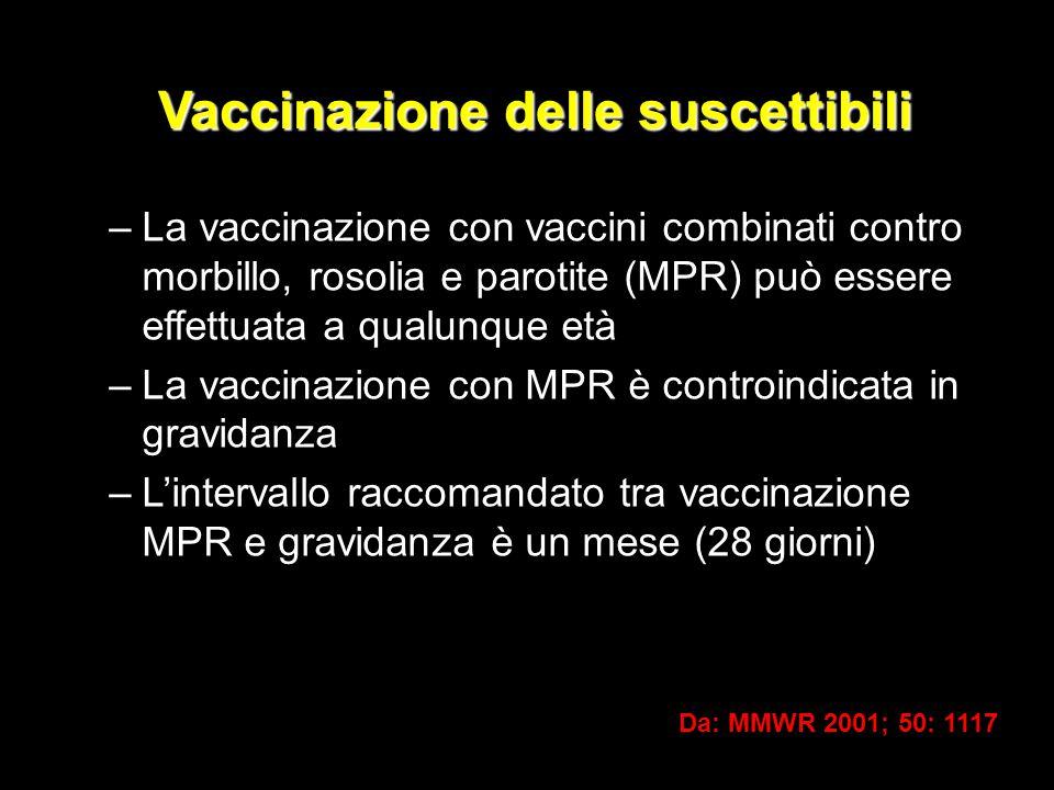 Vaccinazione delle suscettibili